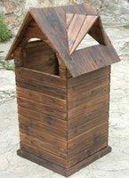 Wholesale Wooden Waste Bins European Style Environmental Large Trash