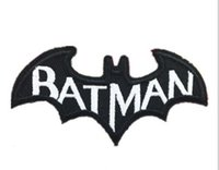 batman comics books - 30pcs DC Batman Cape Comic Book Logo white Letters Embroidered Iron on Patch Cartoon Fabric Badge Children DIY Clothing Accessories
