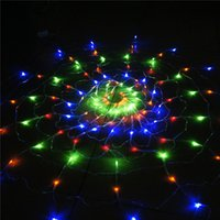 animal nets - Crazy Genie V Colorful RGB Spider LED Net Light with Led Christmas Lights Party Wedding Led Night Lighting Tiras Licht