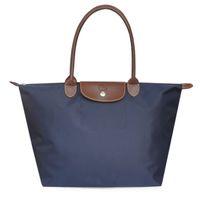 Wholesale Large Size Long Handle Folding Dumpling Bag Casual Fashion Waterproof Nylon Cloth Single Shoulder Bag Large Capacity Multi Color Handbag