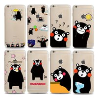 apple cartoon characters - hot sale cell phone case soft flexible cartoon movie character kumamon printing clear TPU iphone S PLUS case
