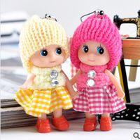 anime mini figure girl - 8cm Cute Princess Doll Stuffed Toys Mini Ddgir Phone Hanging Christmas Gifts for Girls Children Drop