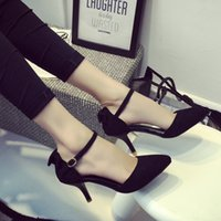 b eds - The spring and autumn period and the summer fashion sexy female work order shoes pointed black light mouth high heeled fine with han ed