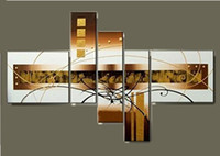 Wholesale Hand made Oil Painting on Canvas Modern Art Abstract Party Panels Wood Inside Framed Hanging Wall Decoration