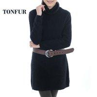 Wholesale New Arrival Women Long Real Mink Fur Sweater Natural Mink Fur Coat Long Brand Fur cashmere FP557