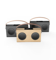 battery power level - High Level Wooden bluetooth speaker with FM Radio USB Charging Line in display rechargeable battery inside and power bank