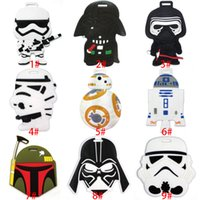 Wholesale Star Wars Boarding Pass Black Knight Luggage Tag Travel Suitcase Tag Cute Cartoon Luggage Identification Boarding Pass Checked Label XL P106