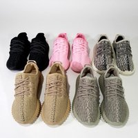 baby shoes box - Sneakers Kids Kanye West Boost Running Shoes Kids Basketball Shoes Boost Baby Children Athletic Shoes With Box