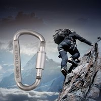 Wholesale 1pcs cm Outdoor Sports Aluminium Alloy Safety Buckle Keychain Climbing Button Carabiner Camping Hiking Hook