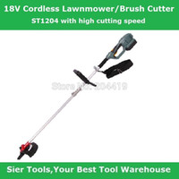 battery trimmers grass - Garden Power Tools V Electric Grass Trimmer ST1204 cordless brush cutter MAH lithium battery lawn mower two way mower