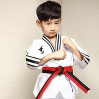 bamboo clothing manufacturers - genuine children Taekwondo wear long sleeved cotton adult male and female generic Taekwondo clothing manufacturers
