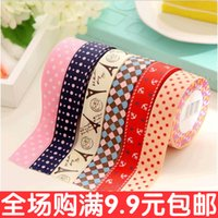 Wholesale South Korea handmade DIY Gallery vintage silk printing fabric Satin tape for tape selection