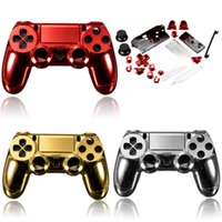 Wholesale Chrome Plating Housing Shell Case Full Mod Kits for PS4 Controller DualShock Parts for PlayStation4 Wireless Multi Colors