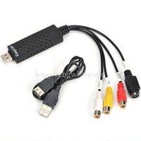 Wholesale New Video Audio AV Capture Support EasyCAP USB TV DVD VHS for WIN WIN