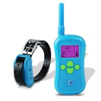 Wholesale PETINCCN P680 M Remote Dog Training Collars Waterproof Rechargeable with Four Functions of Range finding vibration shock and Tone Blue