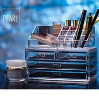 Wholesale large Acrylic Drawer Jewelry Cosmetic Organizer High Quality Transparent make up holder Box