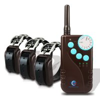 Wholesale PETINCCN P681C M Remote Dog Training Collars Waterproof Rechargeable with Four Functions of Range finding vibration shock Tone Collars