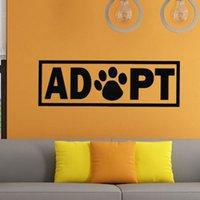 adopt cats - Hot Sale Adopt Dog Cat Animal Adoption Paw Print Vinyl Wall Stickers Living Room Bedroom Art Decor
