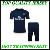 Wholesale 2016 Paris royalblue tracksuit PSG T SILVA VERRATTI LUCAS CAVANI IBRAHIMOVIC DI MARIA MATUIDI Training Wear Kit