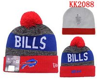 beanies with bills - Buffalo Beanies Sports Teams Bills Hats women men Cool Winter Fashion Skull Caps with Pom Cheap Pom Pom Beanie Hats for Sale