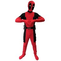 Wholesale 2016 Marvel Children Deadpool Costume Zentai Spandex Superhero Fullbody Halloween Cosplay Kids Halloween Costumes