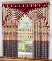 Wholesale European style elegant exquisite home curtain antependium