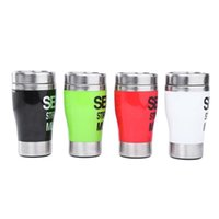 best green coffee - Protable Coffee Cup Stainless Steel Self Stirring Automatic Mixing Coffee Mug ML Eco Friendly Travel Tea Cup Best Christmas Bluw Gift