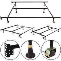 Wholesale Metal Bed Frame Adjustable Queen Full Twin Size Center Support