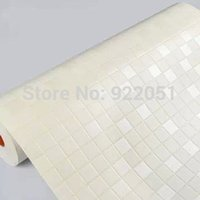 Wholesale PVC self adhesive waterproof Mosaic wall paper White high quality home decor wall sticker for kitchen bathroom
