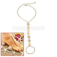 Wholesale Gold Tone Toe Ring sequins l Toe Ankle Bracelet Anklet Chain Link Foot Hot