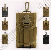 Wholesale 8PCS LJJM94 Mobile Phone Molle Tactical Military Pouch Belt Waist Bag Field Saddlebag Camouflage Outdoor Bag