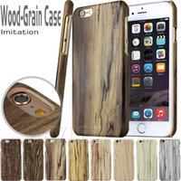 apple wood for sale - For galaxy S7 Hot sale Eco friendly Wood Grain Case Original Ecology Shockproof Hard PC Wooden phone shell Back Cover for iphone6S OPP