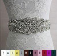 achat en gros de robes de mariée 26-2016 de luxe de mode strass ornements ceinture accessoires de robe de mariage ceinture 100% fait à la main best-seller XW61 mariée ensembles