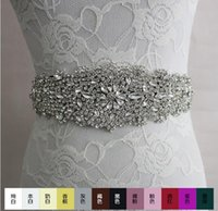 wedding dress belts - 2016 luxury fashion Rhinestone adornment Belt Wedding Dress accessories Belt hand made best selling XW61 Bridal Sashes