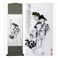 beauty artwork - Dragon Art Large Size Decorative Beauty Portrait Flower Contemporary Artwork Silk Painting on Canvas Wall Art for Home Decoration Wall Decor