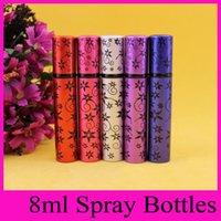 aluminum foil tube - 2016 ml perfume hexagonal flower tube aluminum foil packaging Atomizer Bottle Spray Travel perfume bottles