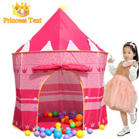 Wholesale Great Girl Gift Large Pink Princess Tent Quality Child Game House Beautiful Play Tent Pretty Indoor And Outdoor Play Tent
