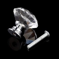 Wholesale 1pack mm Diamond Shape Crystal Glass Drawer Cabinet Knob Pull Handle Kitchen Door Wardrobe Hardware