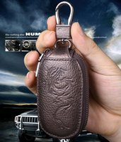 Wholesale Manufacturers custom men s first layer of leather car key cases key cases multifunction high grade leather key cases