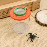 Wholesale 2016 NEW Bug Box Magnify Insects Viewer Lens x Magnification Magnifier Childs Kids Toy Entomologists