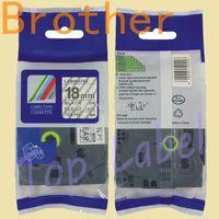 Wholesale 18mm tz tze label tape TZ SE4 TZE SE4 SECURITY LABEL SE4 for P touch label printer label maker ribbon tape cartridge tape