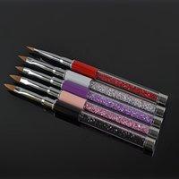 Wholesale Nail Art Care Tools Crystal Gel Pen Brush Handle Nail Art Tool Pen Hot Selling