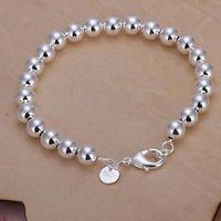 amber prayer beads - Silver Bracelets Fashion Charm MM Prayer Beads Bracelets Chain For Women Buddha Balls Bracelets Jewelry H126