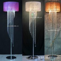 Wholesale Luxury crystal lamp contracted and contemporary sitting room bedroom floor vertical lightings creative lamp