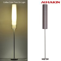 Wholesale Nordic Floor Lamp With Remote Control cm Adjustable Height Stainless Steel and Clothing Material Vertical Indoor Lighting