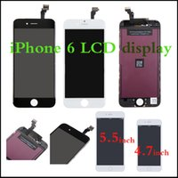 Wholesale Top quality phone part for iPhone LCD display with touch screen digitizer complete for inch inch iPhone lcd open tools