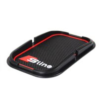 audi carbon - Sline D Anti Slip Mat Interior Accessories Mobile Phone S Line Anti Slip Pad For Audi A2 A3 A4 A6 A8 A7 TT