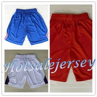 Wholesale New Material Shorts Chris Paul Blake Griffin Basketball Shorts Men Los Angeles Paul Griffin Sport Shorts Color
