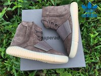 Cheap New Adidas Yeezy 750 Boost Chocolate Brown Kanye West Shoes Top Suede Yeezy Boost 750 Men Sport Sneakers Fashion yeezys season Shoes 40-46