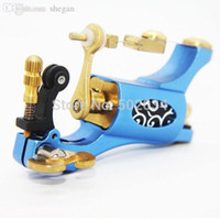 Wholesale Freeshipping High Quality Rotary Tattoo Machine Shader Liner Blue Tattoo Motor Gun Supply For Artists with Box Kit MAR21